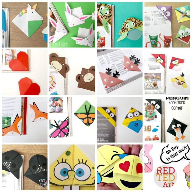 Some of the best Corner Bookmark designs ever. LOVE LOVE LOVE! Based on an EASY Origami Bookmark design, this is a great introduction to paper crafts for kids!