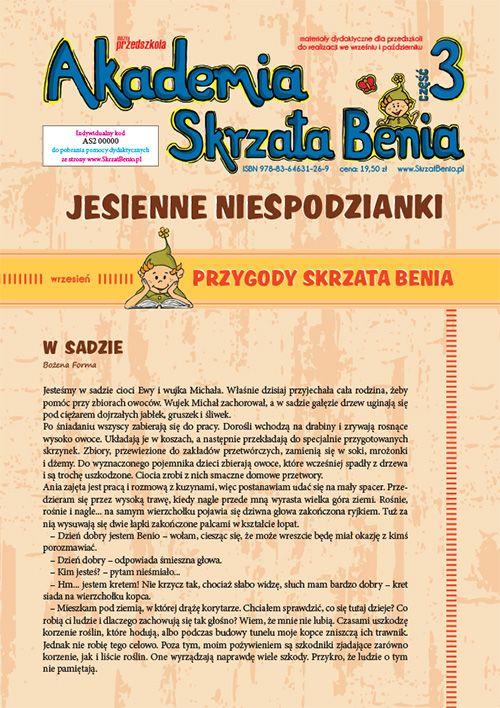Akademia Skrzata Benia cz. 3 - Wydawnictwo BLIŻEJ PRZEDSZKOLA