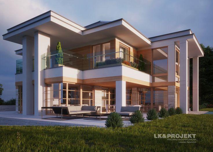 LK&1295 - #houseproject #house #modern #architecture #polisharchitecture #homesweethome #domjednorodzinny #singlefamilyhouse #exterior #build #dreamhome #dreamhouse http://lk-projekt.pl/lkand1295-produkt-9619.html