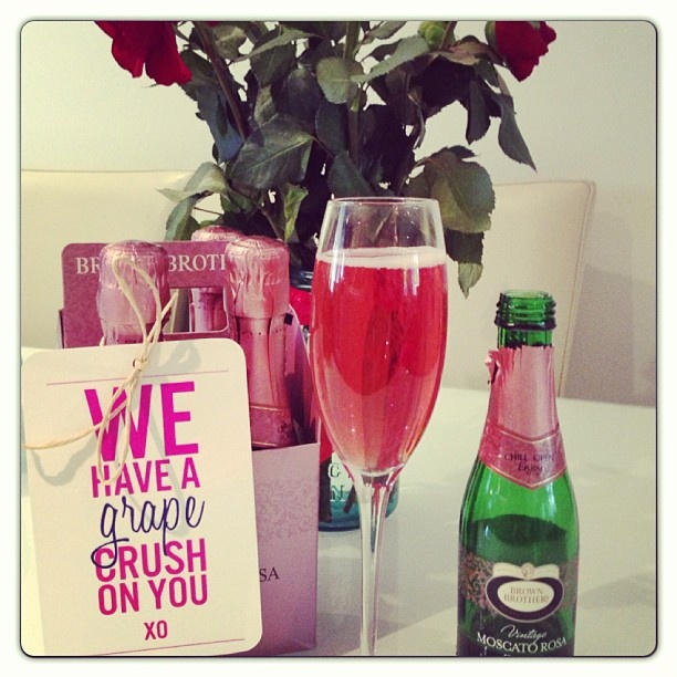 And now for something completely different: it's #MoscatoRosaTime @brownbrothers #valentinesday #pinkbubbles