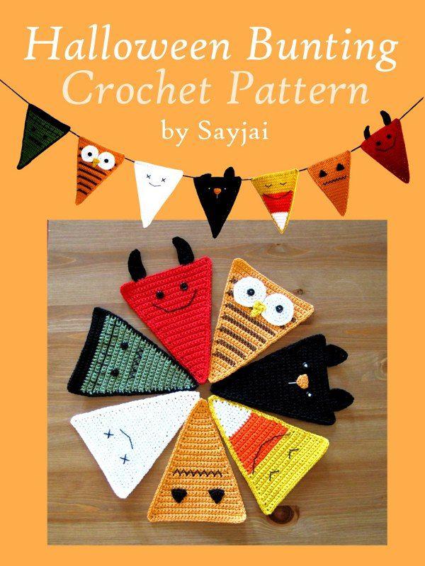 Halloween Bunting Crochet Pattern ~ Amigurumi crochet patterns ~ K and J Dolls / K and J Publishing