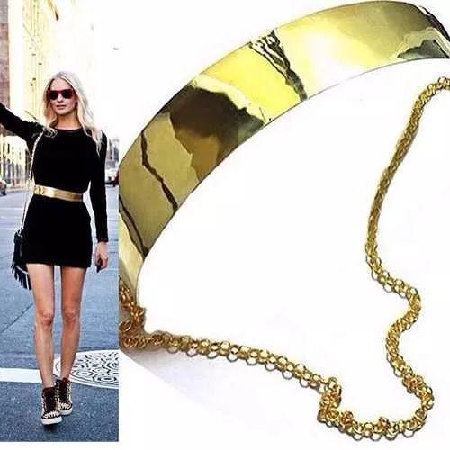 venta de hermosos cinturones dorados