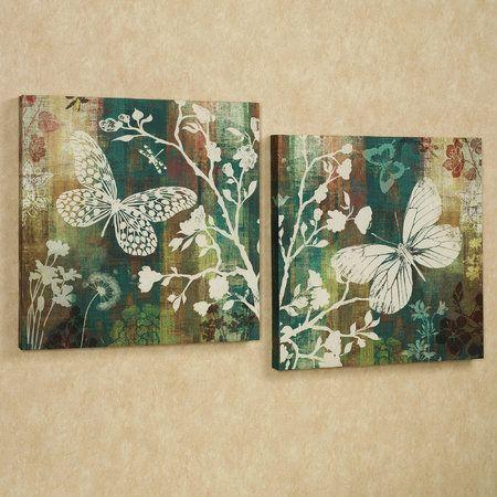 Butterflies in Flight Butterfly Canvas Art Set