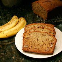 This banana nut bread recipe makes two loaves of banana bread with pecans or walnuts. Banana nut bread recipe.