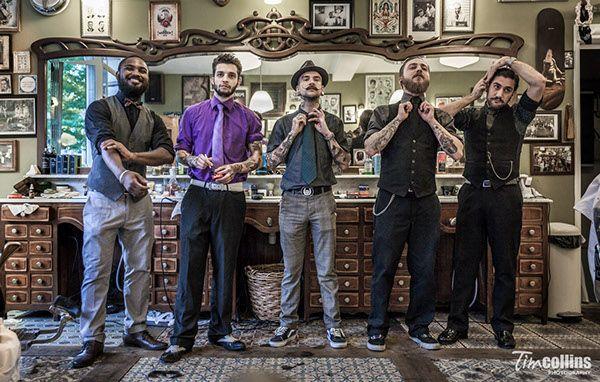 Schorem Barber Shop for Playboy Germany Magazine on Photography Served