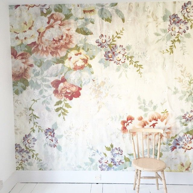 Delighted with our new @mrperswall #wallpaper in our bedroom #blossom print paper