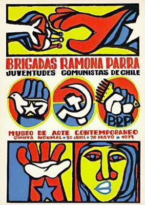 1971. Brigadas Ramona Parra Organización: Museo de Arte Contemporaneo Dibujo: Logo BRP Año: 1971