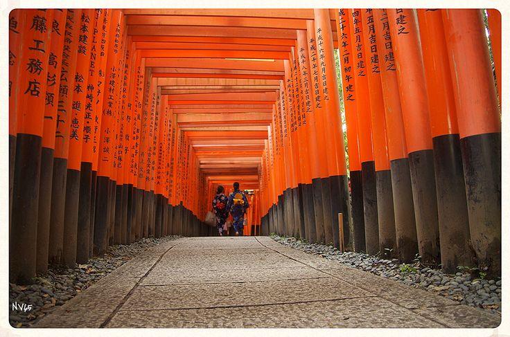 Voyage dans le sanctuaire Fushimi Inari - Kyoto (Japon)