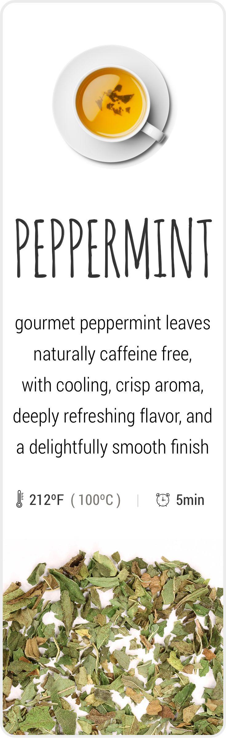 Farm-fresh herbal Peppermint tea from Oregon, USA.