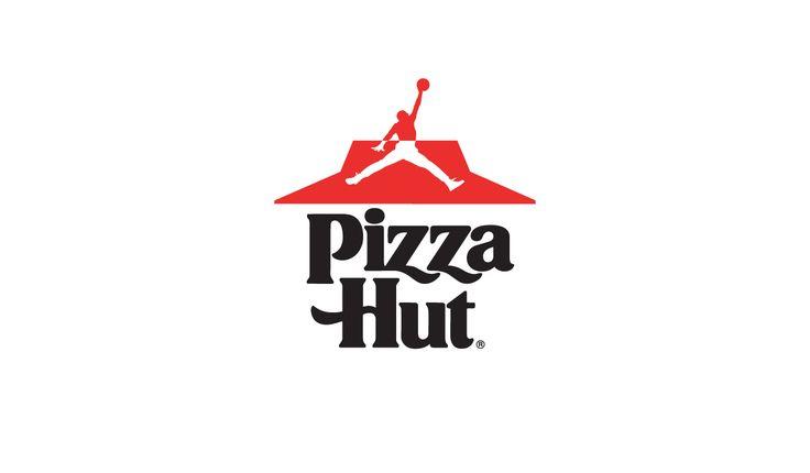 Sportswear x Fast Food logo design mashup: Pizza Hut x Jordan #logo #mcdonalds #nike #adidas #fila #burgerking #dunkindonuts #kfc #champion #underarmour #subway #puma #jordan #pizzahut #dominos #fila