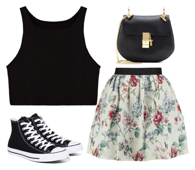 """Untitled #247"" by jovanaaxx ❤ liked on Polyvore featuring Raoul, Converse and Chloé"
