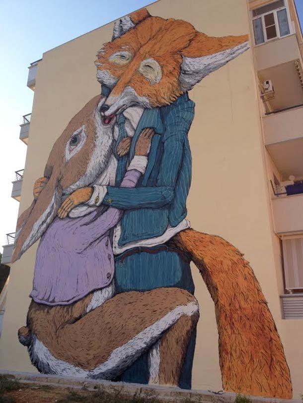 créations street art d'Ericailcane