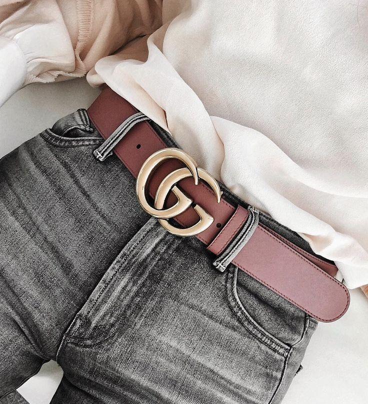 Grey jeans, pink belt, white shirt --> Fashion Pinterest: @FlorrieMorrie00 Instagram: @flxxr_