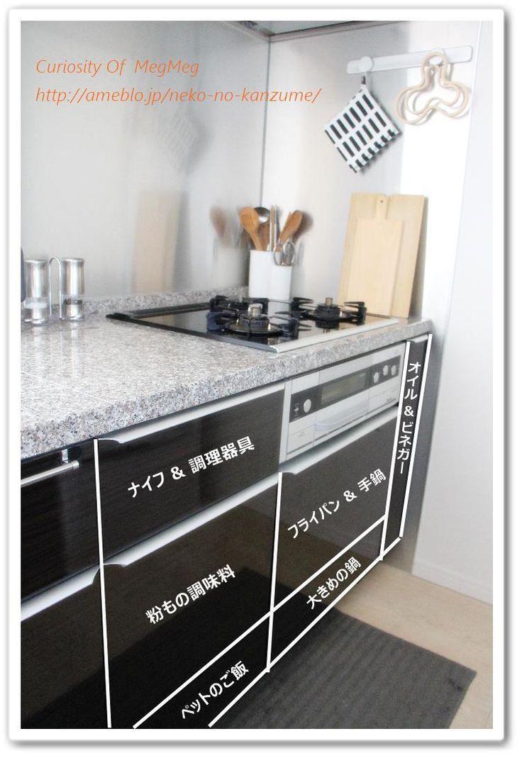キッチン用品の収納場所 ● 動線を考える |メグメグの好奇心♪♪ 収納インテリア|Ameba (アメーバ)