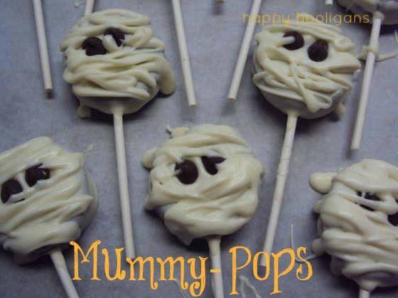 Oreo Mummy Pops Halloween Treats - Happy Hooligans