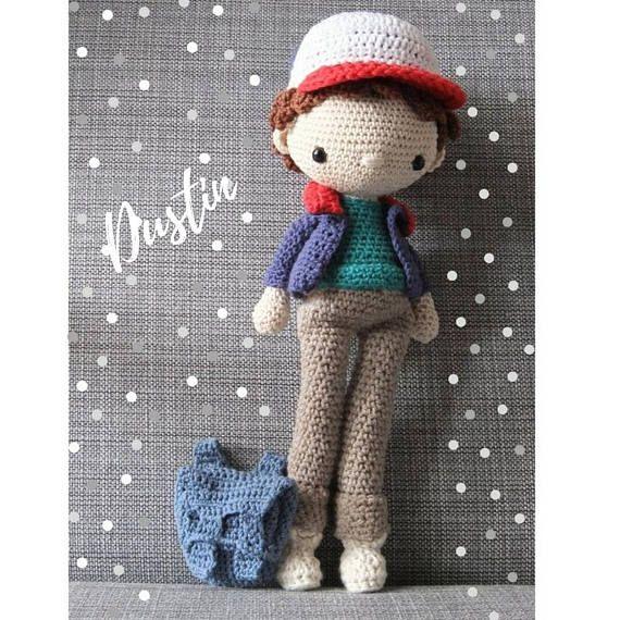 Amigurumi cotton Dustin doll