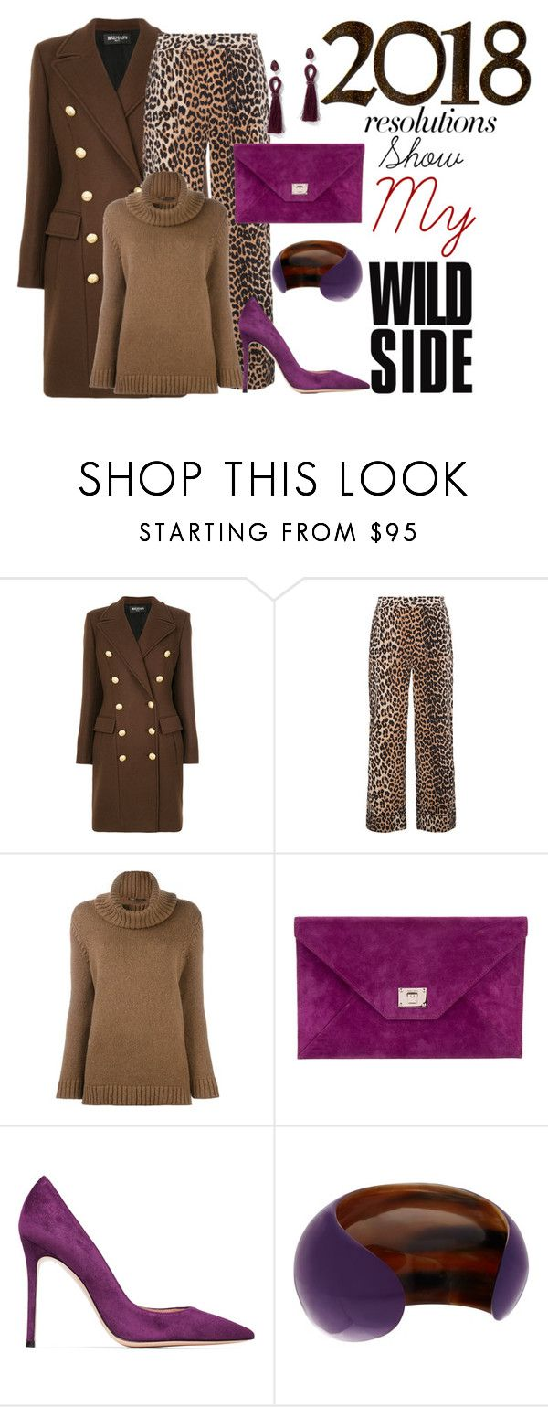 """""""#PolyPresents: New Year's Resolutions"""" by rochelle-cornelius-earp ❤ liked on Polyvore featuring Balmain, Ganni, Agnona, Jimmy Choo, Gianvito Rossi, NEST Jewelry, New York & Company, contestentry and polyPresents"""