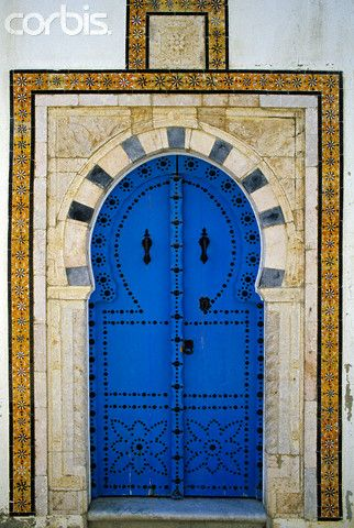 Africa | Doorway in Sidi Bou Said, Tunisia | ©Patrick Escudero