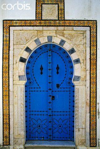 Africa   Doorway in Sidi Bou Said, Tunisia   ©Patrick Escudero