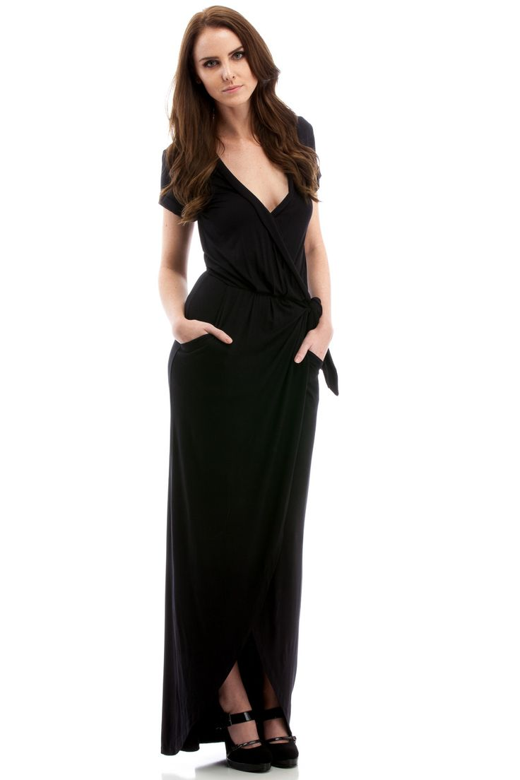 long black dress with pockets