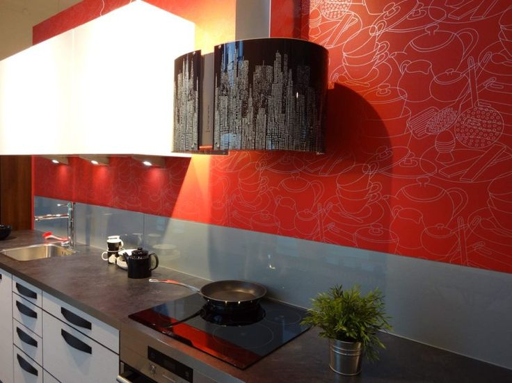 winding panels kitchen kitchen mirror decay glass wallpaper-red
