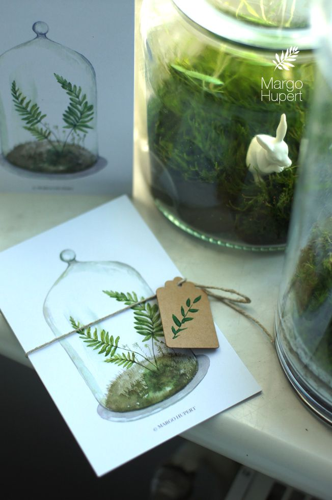 Post cards Forest in the bottle margohupert.pl