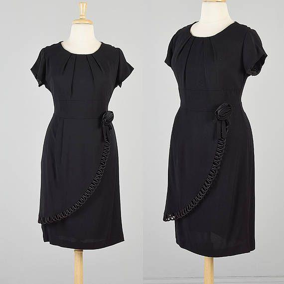 2XL 1960s Dress Little Black Dress 60s Cocktail Party Dress Short Sleeve  Dress Summer Party Dress Cocktail Dress Plus Size 1960s Vintage