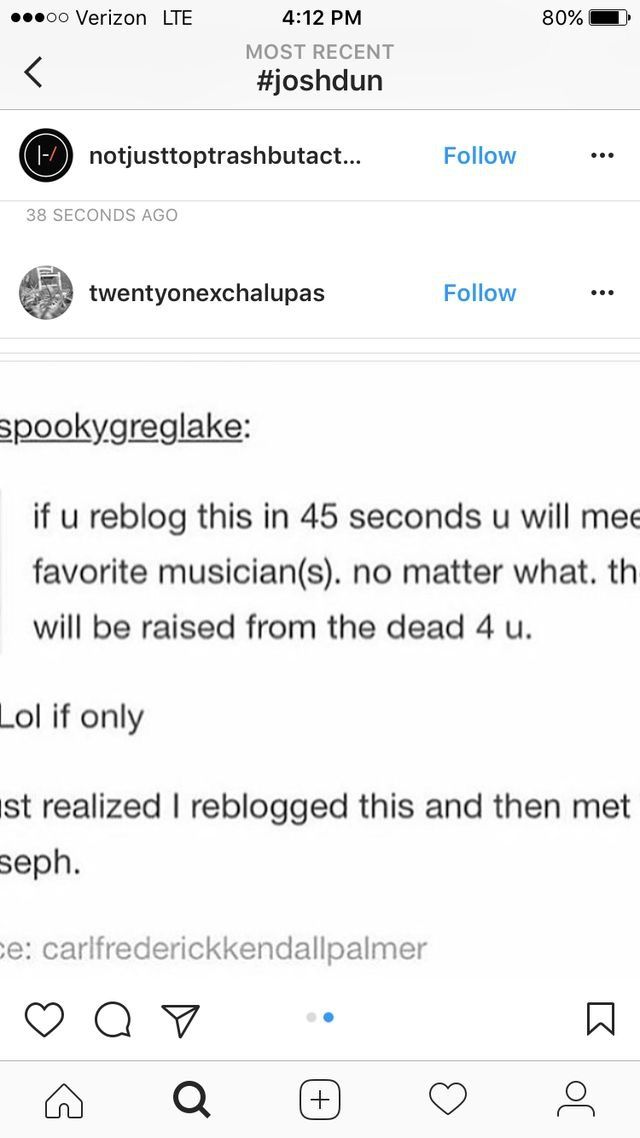 """the last part says """" i met Tyler Joseph"""" JUST FOR THAT I AINT RISKIN IT"""