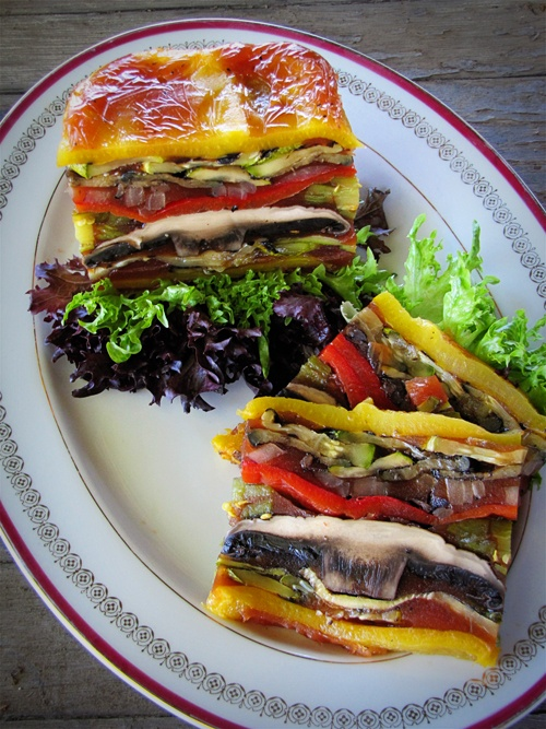Roasted Vegetable Terrine,  All developed countries are responsible 4 pollution and genocide now  NASA who contributed to get us sick  talks about it, I have been talking of this all my life go here 2 see how I got sick and healed myself, go self-sufficient and organic 4 life, http://youcanhaveitallhealthrichesbalance.blogspot.ca/2013/07/natural-radiation-can-cause-cancer-and.html.