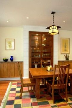 Built In China Cabinets Design Ideas Pictures Remodel And Decor Craftsman Dining RoomCraftsman