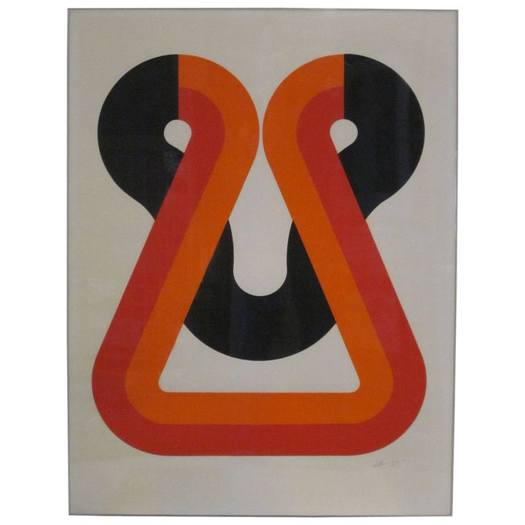 1970s Litho on Paper by Japanese Artist Naomi Okuya