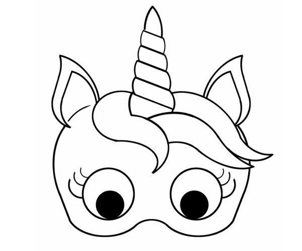 Molde De Unicornio Para Imprimir Eva Feltro E Outros Mascaras