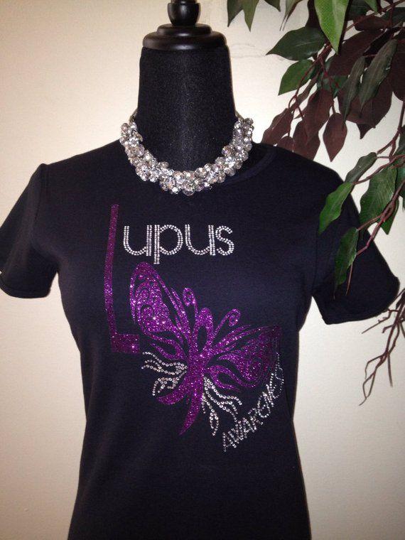 Lupus Awareness Tee Purple Glitter Foil And Rhinestones Products