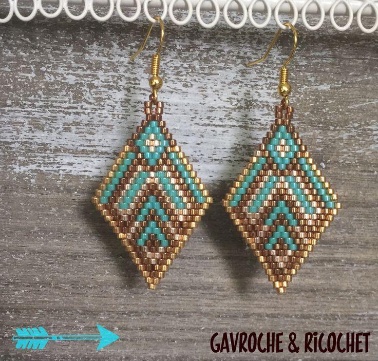 Boucles d'oreilles miyuki Gavroche & Ricochet