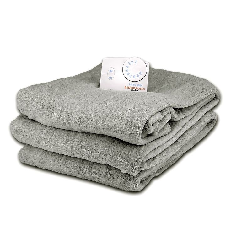 Twin Size Soft Microplush Electric Heated Blankets by Biddeford Blankets, Smoke Grey. Made from ultra-luxurious MICROPLUSH, the fabric of this blanket is incredibly warmth, soft and cozy. The controller is easy to grip, includes 10 personal heating settings and 10-hour auto-off for convenience. Turn down the heat, stay warm and save. Machine wash and dry electric heated blanket. Twin Size: 62 x 84-inches.