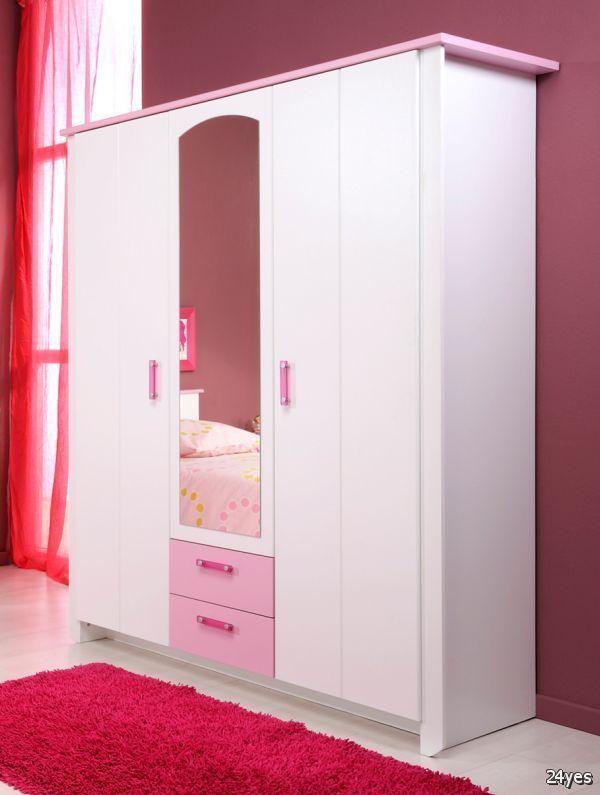 Lemari Pakaian Anak 4 Pintu Pink (LPA2)