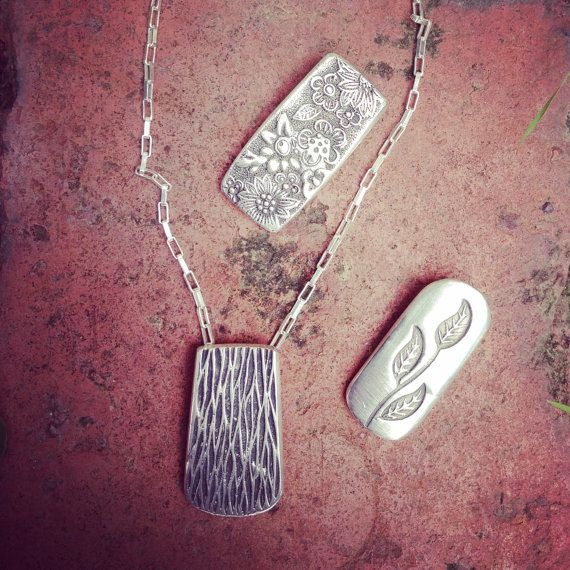 Sterling Silver Wax Cast of a Knife Handle Pendant by BabblingBee
