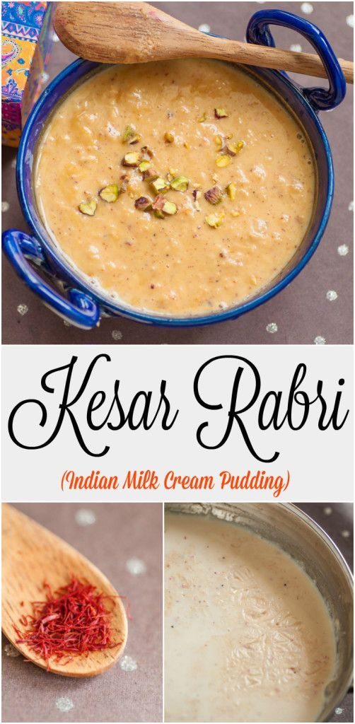 Kesar Rabri combines whole milk, saffron and cardamom to create a creamy, luxurious Indian dessert which is as versatile as it is delicious. It is eggless and glutenfree. 250 Cals/ portion :)