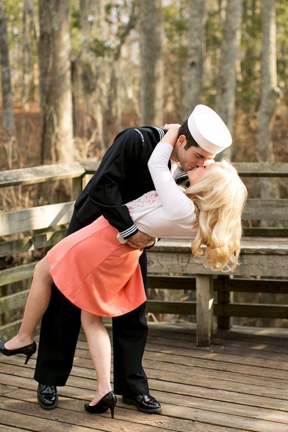 Navy engagement photo