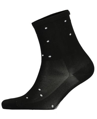 FINGERSCROSSED black Dots cycling performance racing socks from The Cycling Store