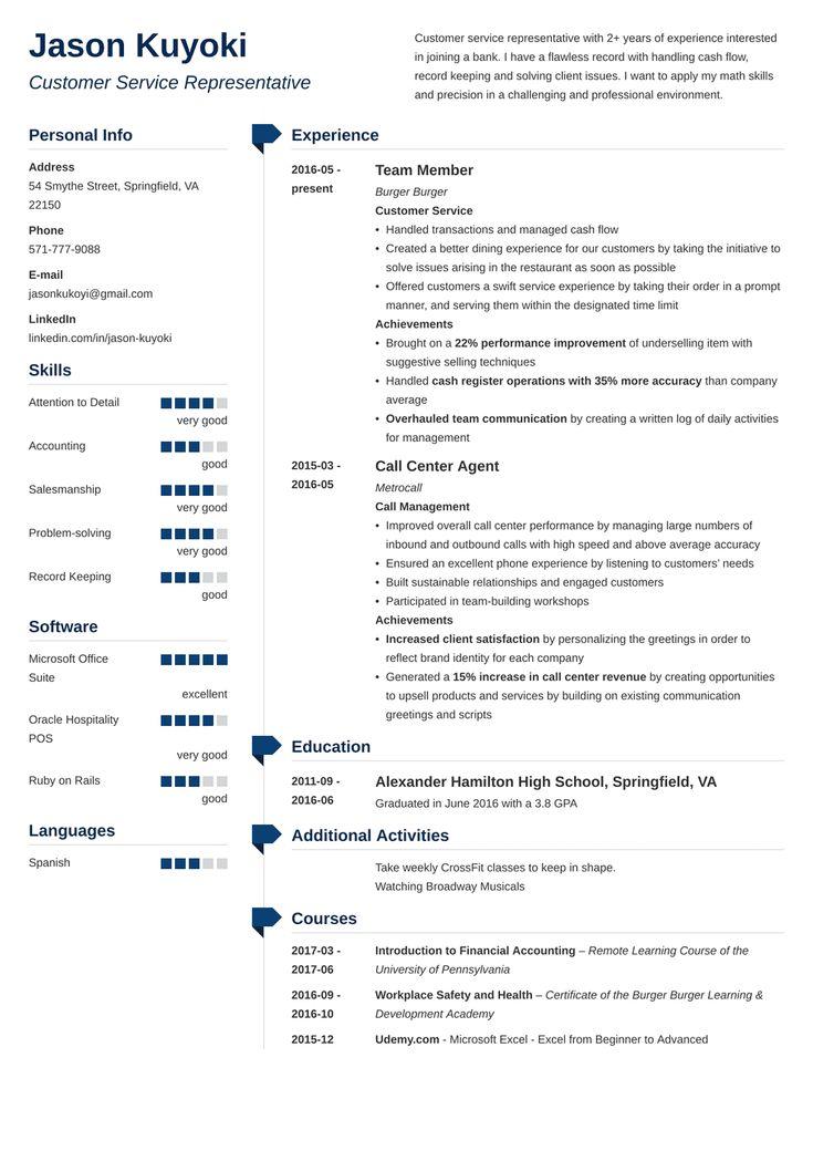 bank teller resume template muse  engineering resume job