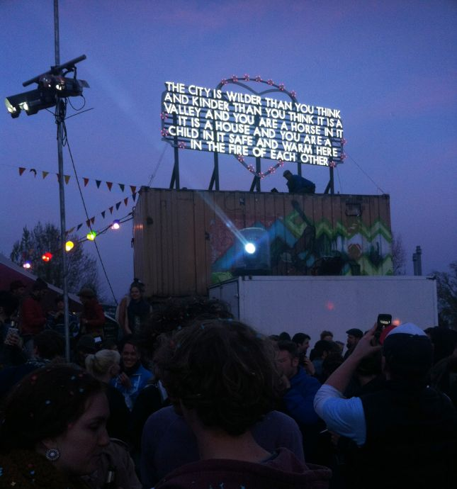 Poetic Billboards Lit Up With Neon & Fire | Jeannie Huang