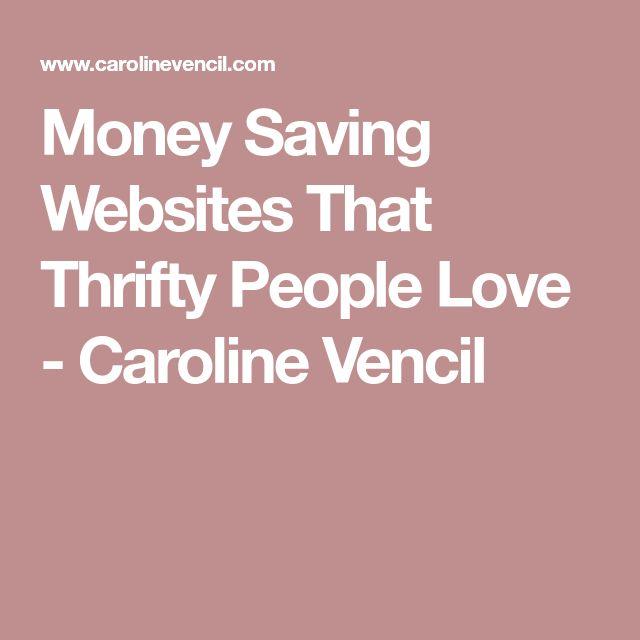 Money Saving Websites That Thrifty People Love - Caroline Vencil