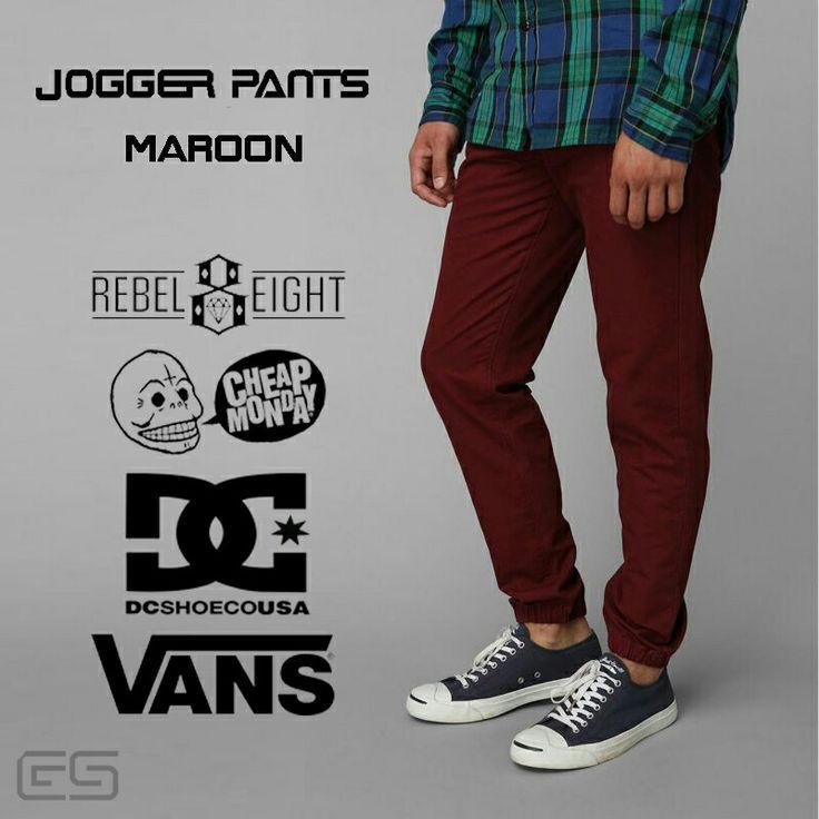 Celana joger Bahan Cotton Avaible size 28-34 Harga IDR 135K Minat komen y gan.  #celanajoger #celana #joger #dc