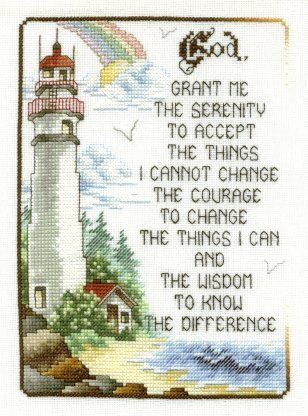 serenity prayers Cross Stitch Pattern | This is a freebie ...