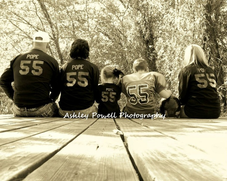 Football Pictures..with his fans! (Grandpa, Grandma, Sister, and Mom)  http://www.facebook.com/Ashley.Powell.Photography