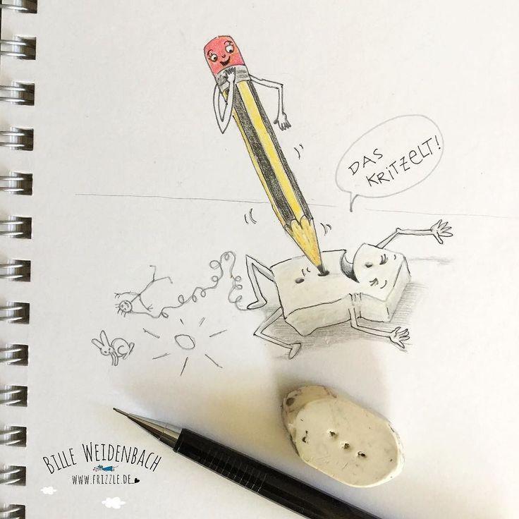 104/365 Heute: Radiergummi. Wir haben fast nur Radiergummis mit Löchern oder mit Lineal geschnitzte - was ich früher gemacht habe setzen die Kinder fort. Erst denkt man ja das ist Radiergummiquälerei aber eigentlich haben die beiden großen Spaß dabei!  . . . 365doodlesmitjohanna @byjohannafritz #eraser #kinderbuchillustration #kidlitart #tickle #giggle #kitzeln #skizze #sketchbook #doodle #rubber #illustree #illustratorlife #illustrate #drawing #drawdaily #drawnbyhand…