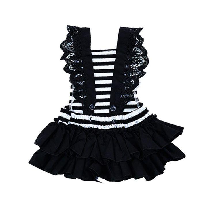 $4.31 (Buy here: https://alitems.com/g/1e8d114494ebda23ff8b16525dc3e8/?i=5&ulp=https%3A%2F%2Fwww.aliexpress.com%2Fitem%2FBaby-Girls-Jumpsuit-Lace-Clothes-Toddler-Infant-Kids-Romper-Playsuit-Outfits-Children-Black-Stripe-Sets%2F32798218155.html ) Baby Girls Jumpsuit  Lace Clothes Toddler Infant Kids Romper Playsuit Outfits Children Black Stripe Sets for just $4.31