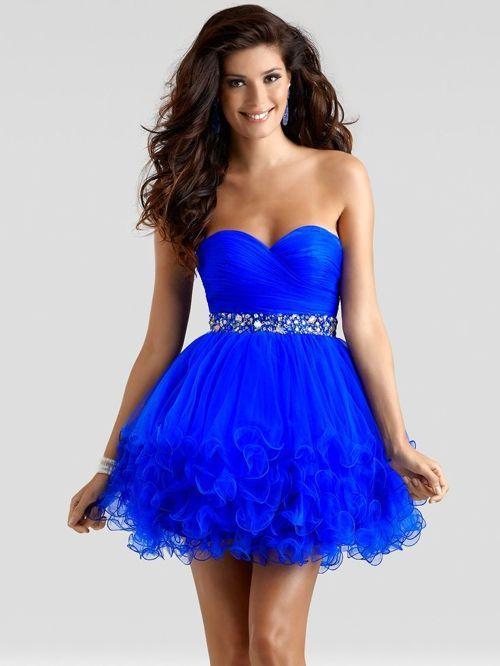 Vestidos corto azul