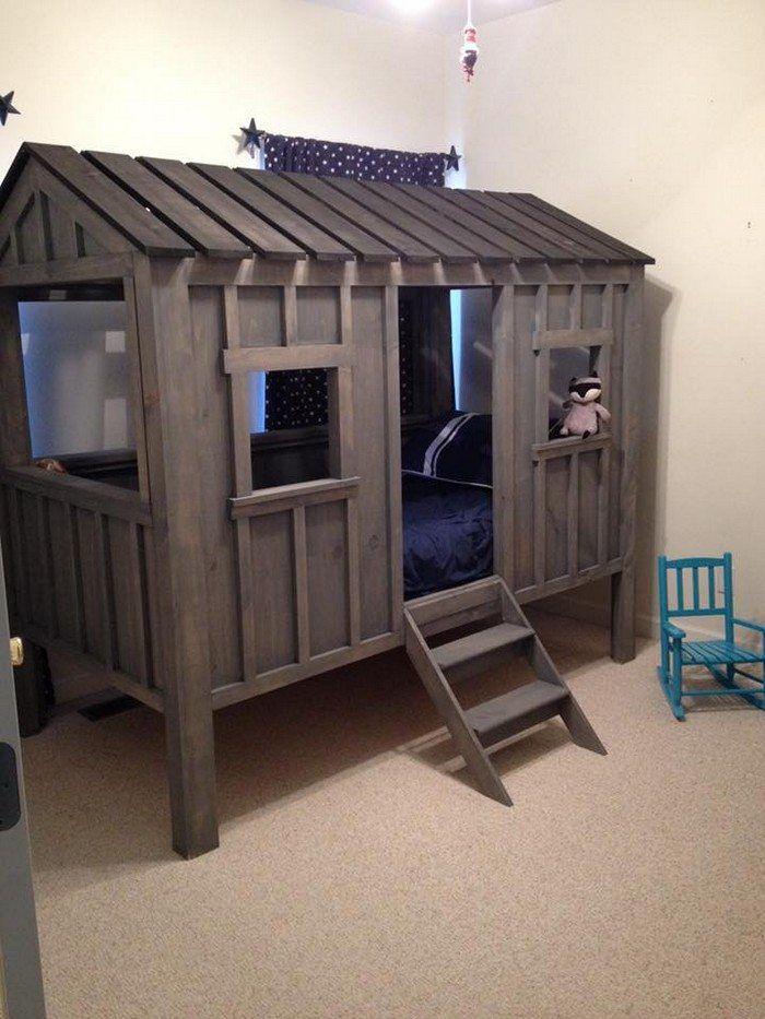 Diy Kids Cabin Bed Cabin Bed Cabin Beds For Kids Diy Cabin